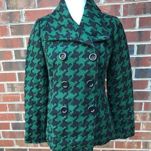 Forever 21 Green and Black Pea Coat